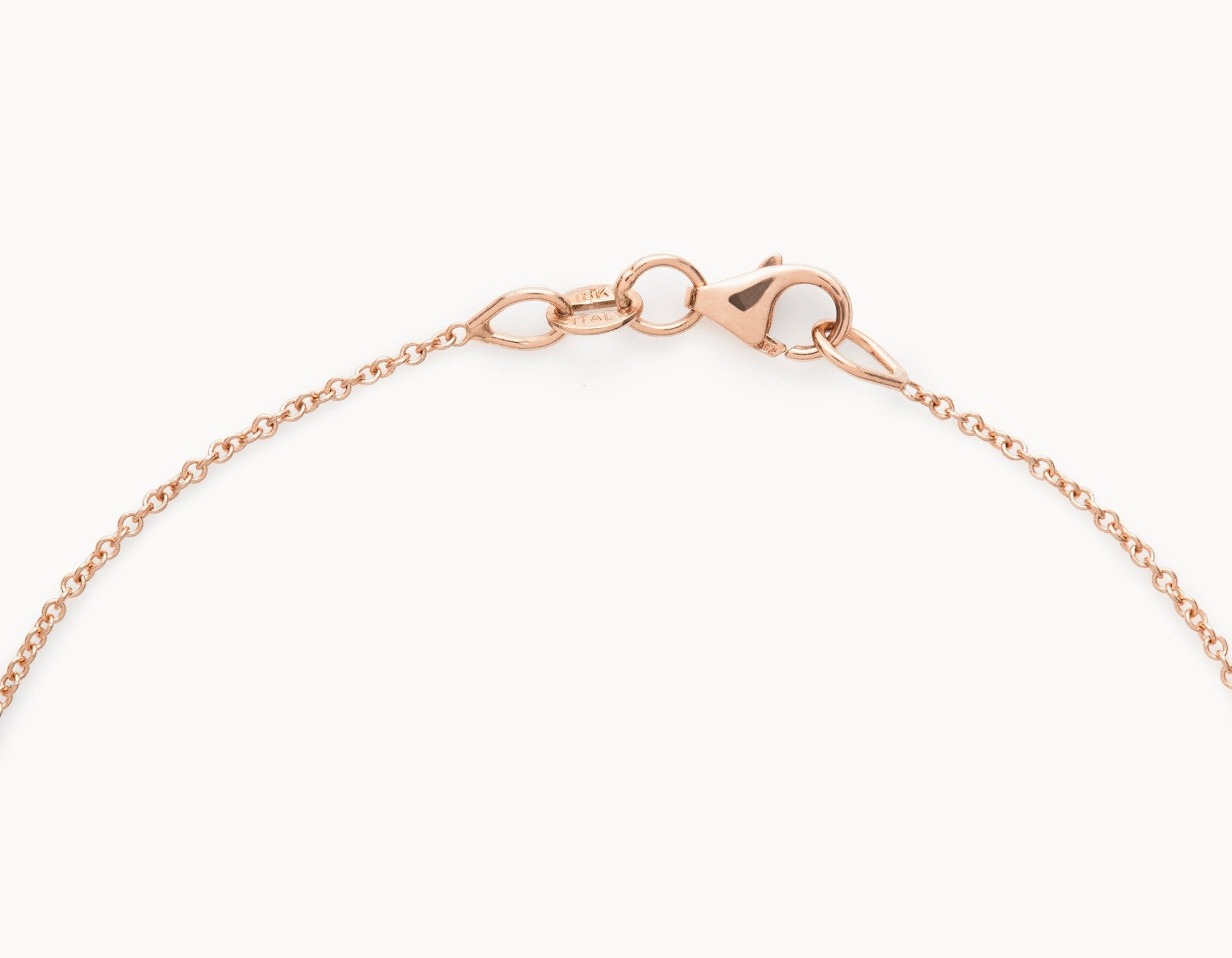 18k Rose Gold Necklace Chain with Lobster Clasp