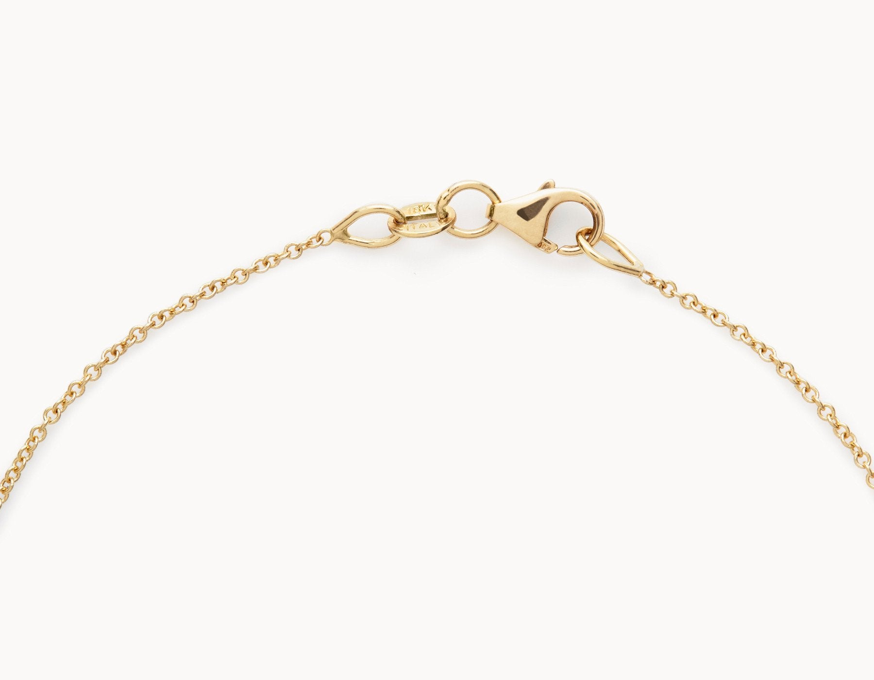 18k Yellow Gold Necklace Chain with Lobster Clasp