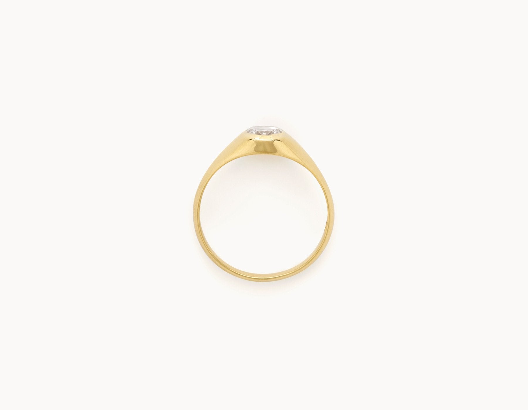 Vrai & Oro Black Label Oval Rose Signet