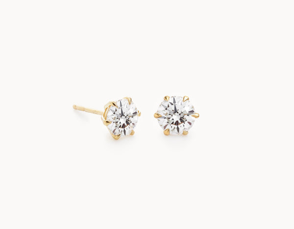 Vrai & Oro Black Label Round Brilliant Studs