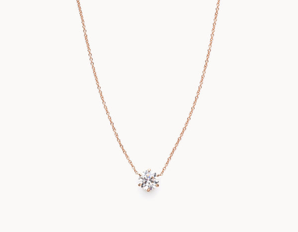 Vrai & Oro Black Label Round Brilliant Diamond Necklace