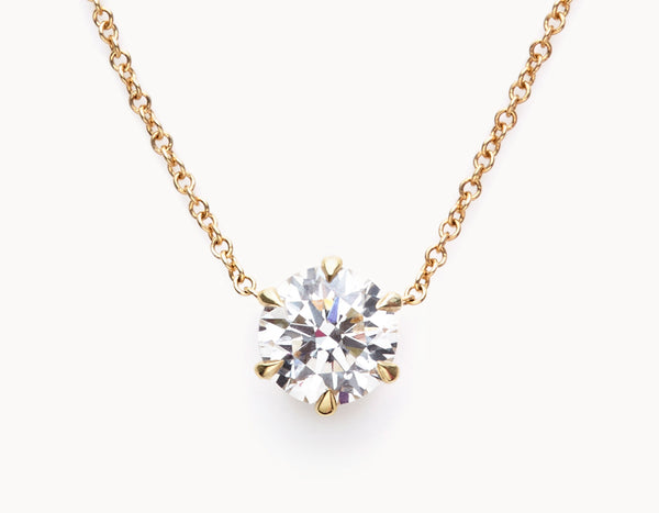 1ct Round-Brilliant Diamond Necklace