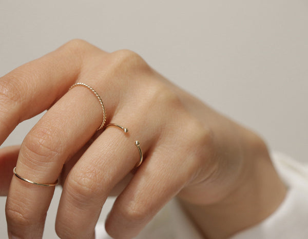 Vrai & Oro Dot Cuff Ring