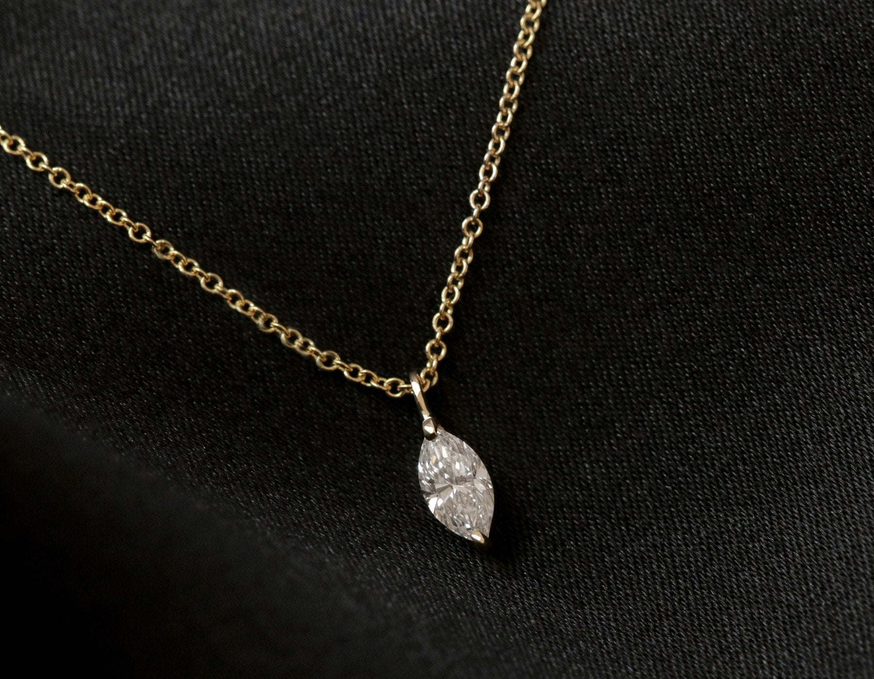 solitaire round pnd charm twisted marquise diamond white swirl real cut chain tone gold two necklace pendant