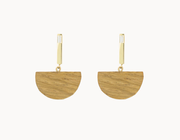 Half Moon Bar Earrings
