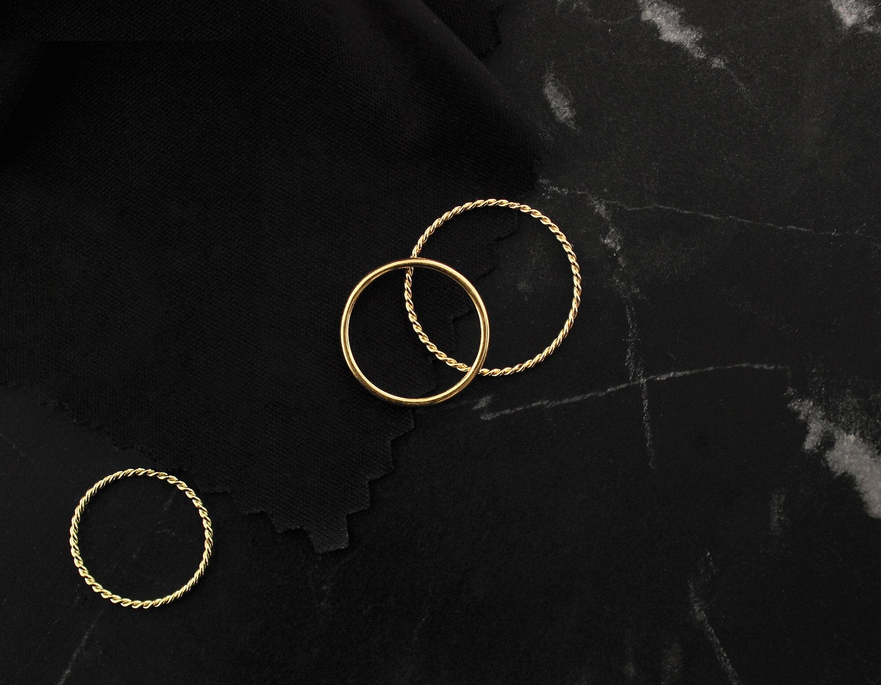 Simple Gold Braided Rings