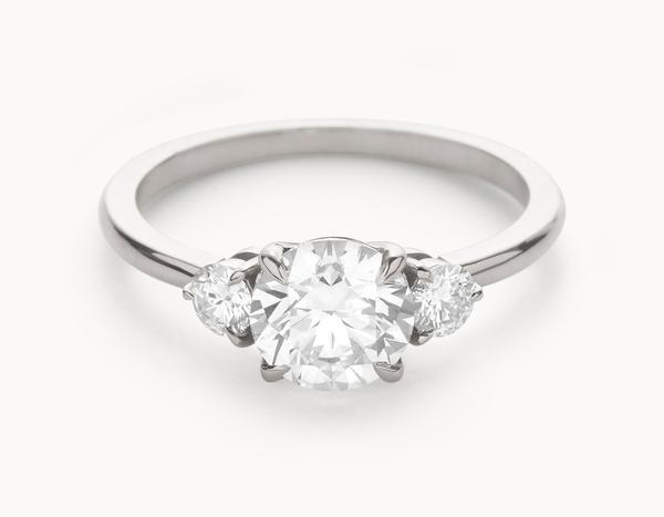 The Three Stone Engagement Ring | 18k White Gold
