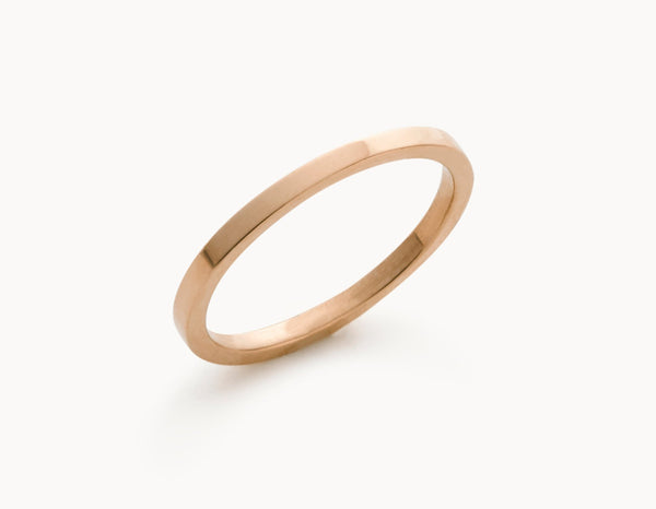Minimal 18k Rose Gold Men's Women's Wedding Band