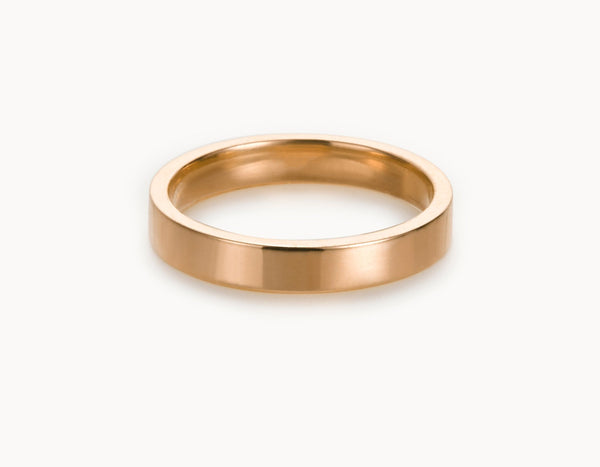Modern 18k Rose Gold Men's Women's Wedding Band
