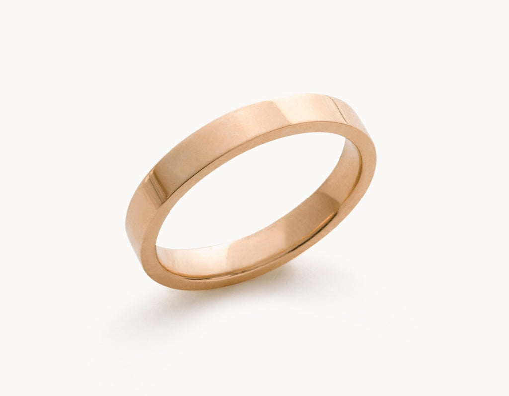 The 3 Flat 18k Rose Gold Vrai Oro