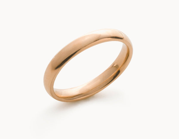 Simple 18k Rose Gold Men's Women's Wedding Band
