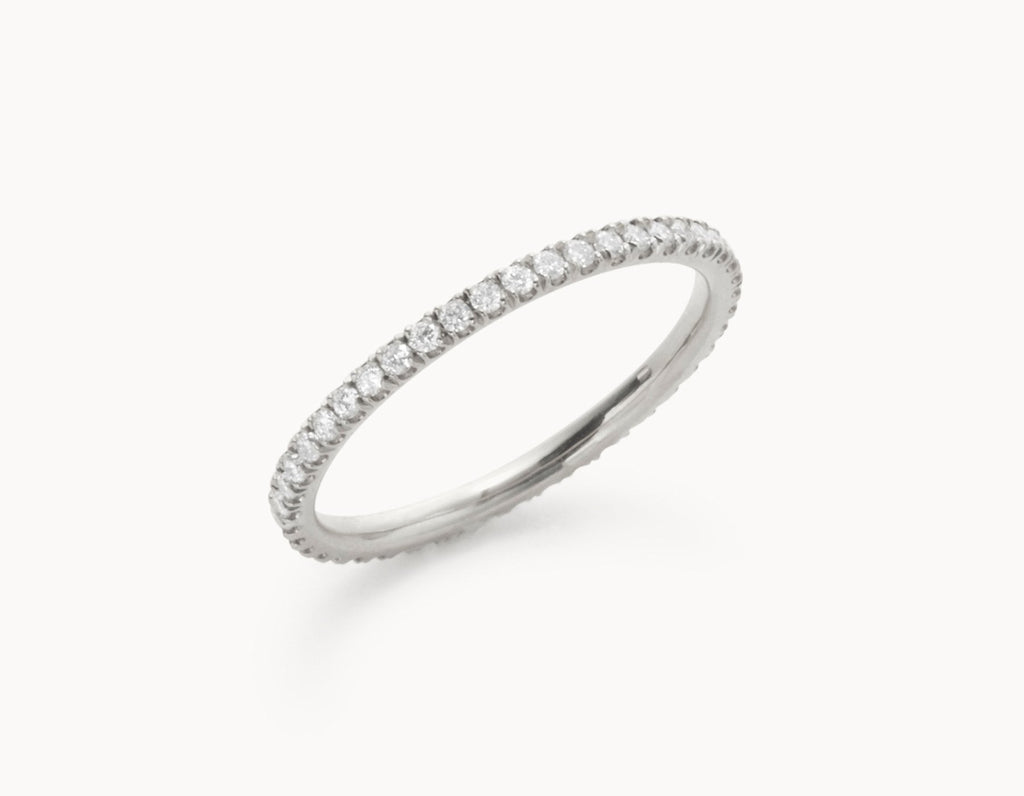 The Infinity Band 18k White Gold Vrai Oro