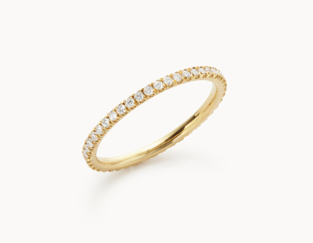 gold ring diamond elizabeth band yellow single margaret bands products with