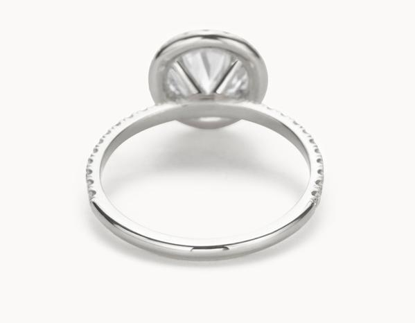 The Halo Pavé Engagement Ring | 18k White Gold
