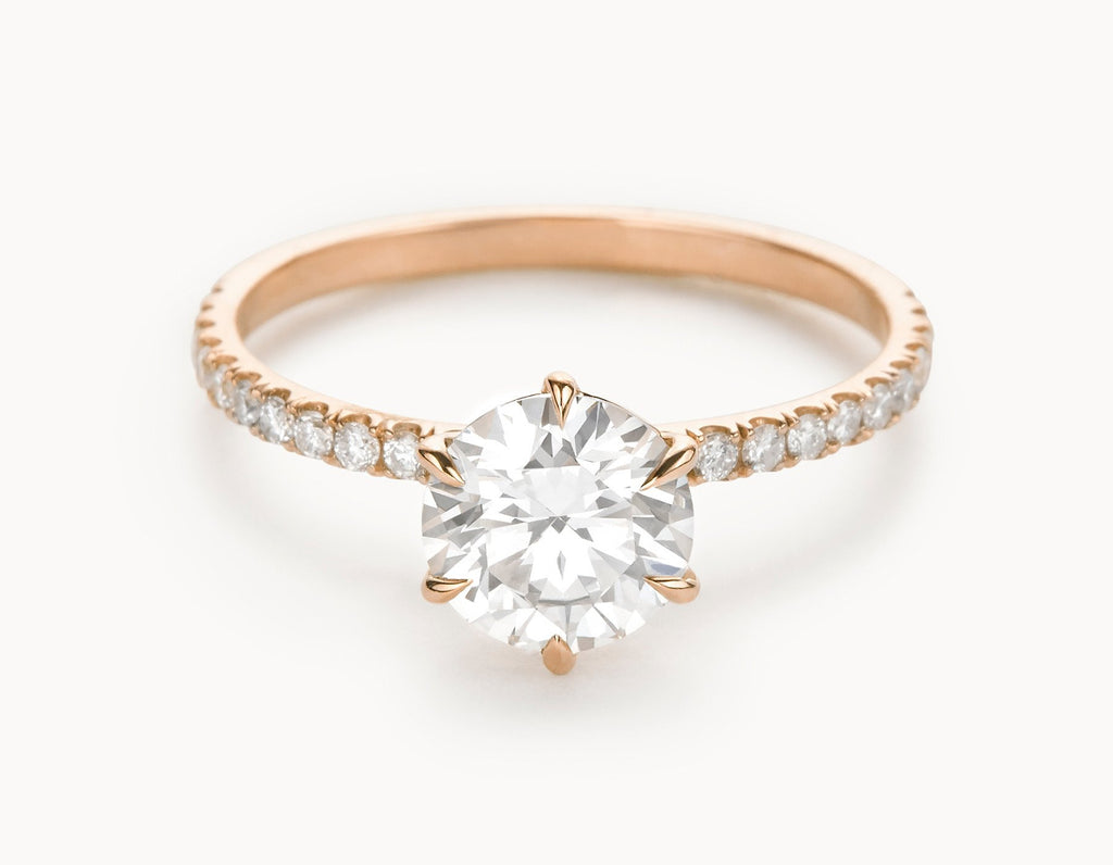 rose bdcb vrai diamond oro solitaire rg the band minimal bands pave brilliant vow pav solitare gold collections ring round engagement wedding