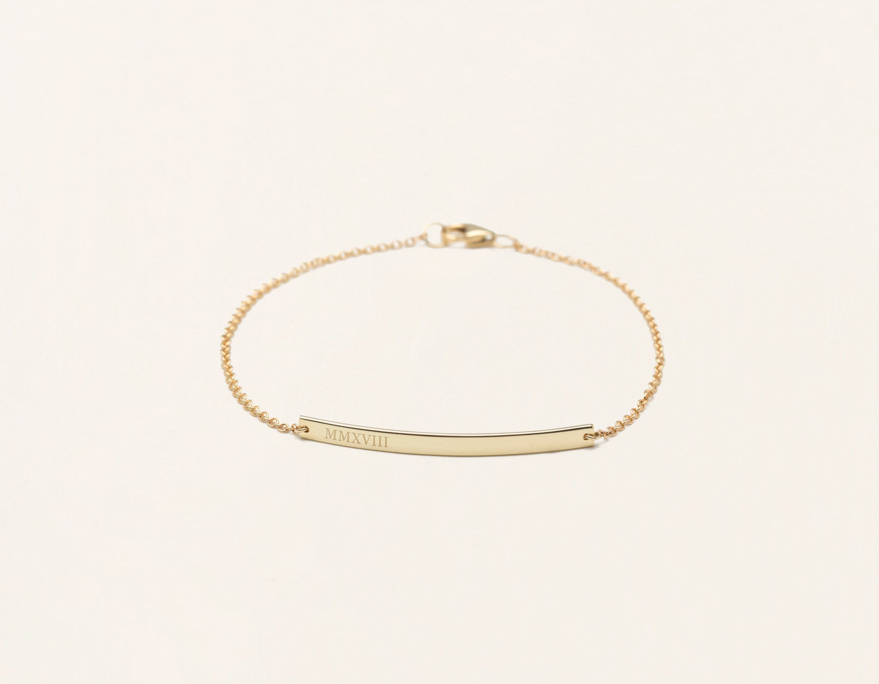 gold vsd bar yellow bracelet