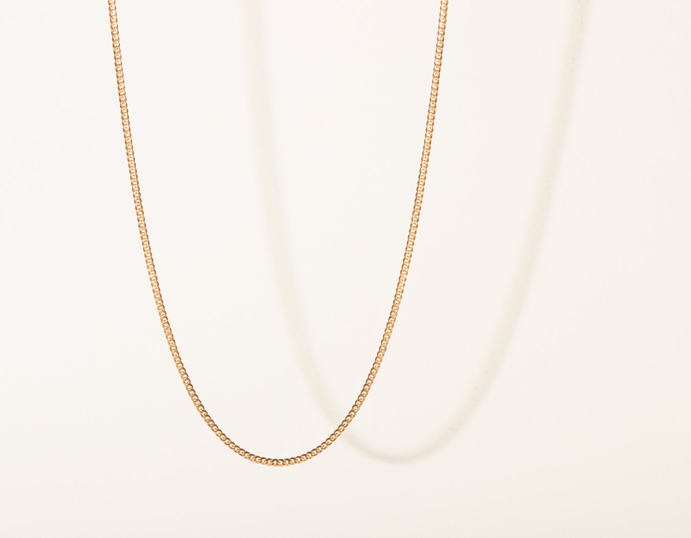Vrai and Oro Cuban Link Chain 14k Solid rose gold