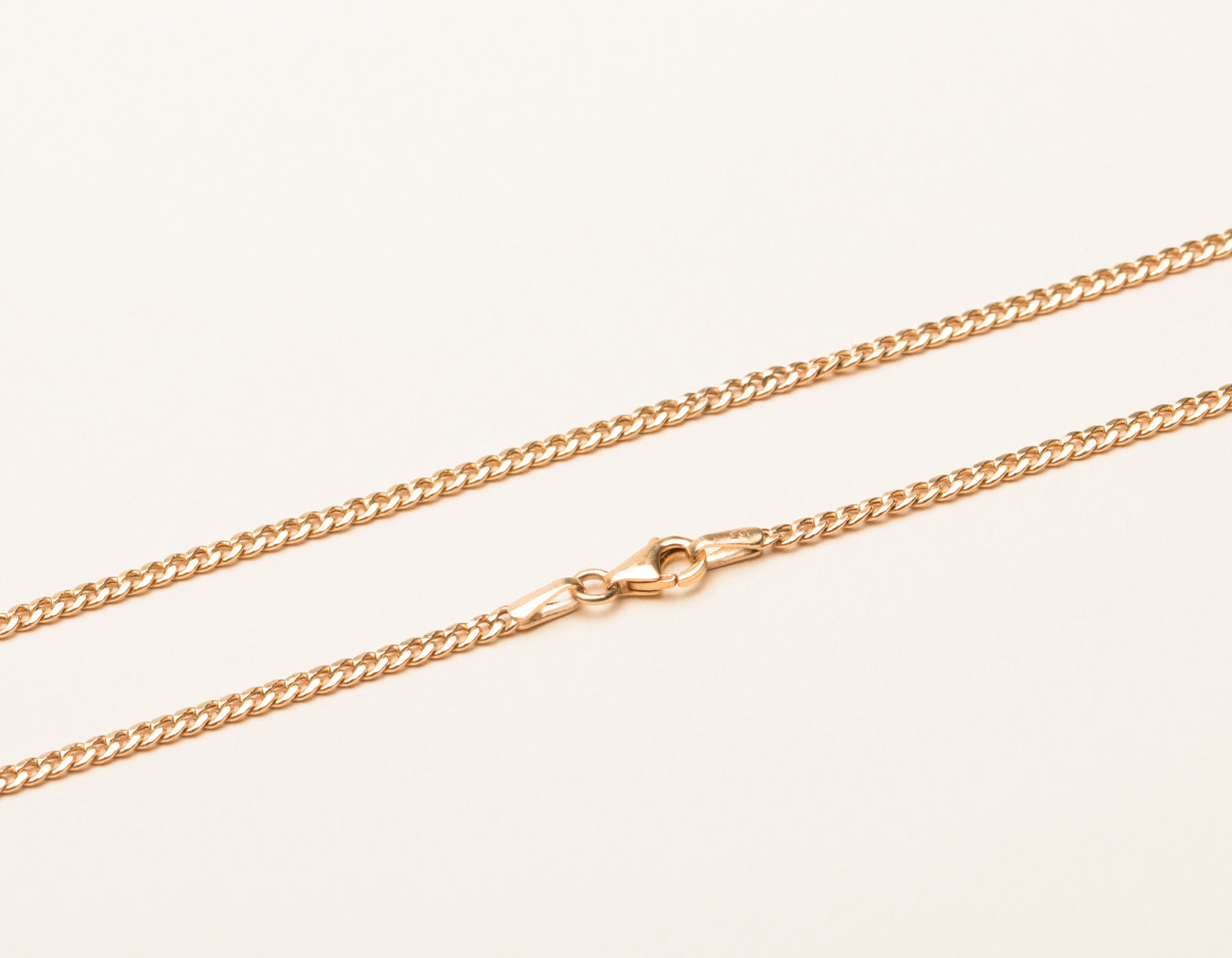 Vrai and Oro Thick Cuban Link Chain 14k Solid rose gold