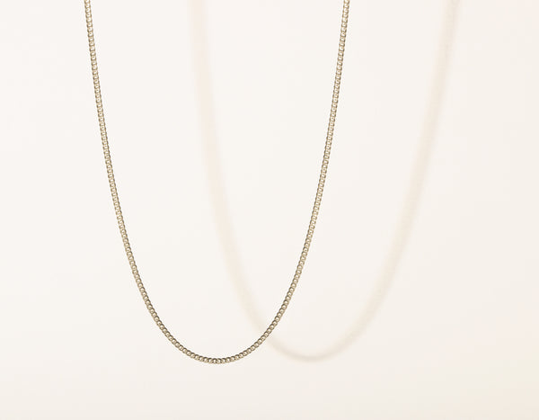 Vrai and Oro Cuban Link Chain 14k Solid White gold