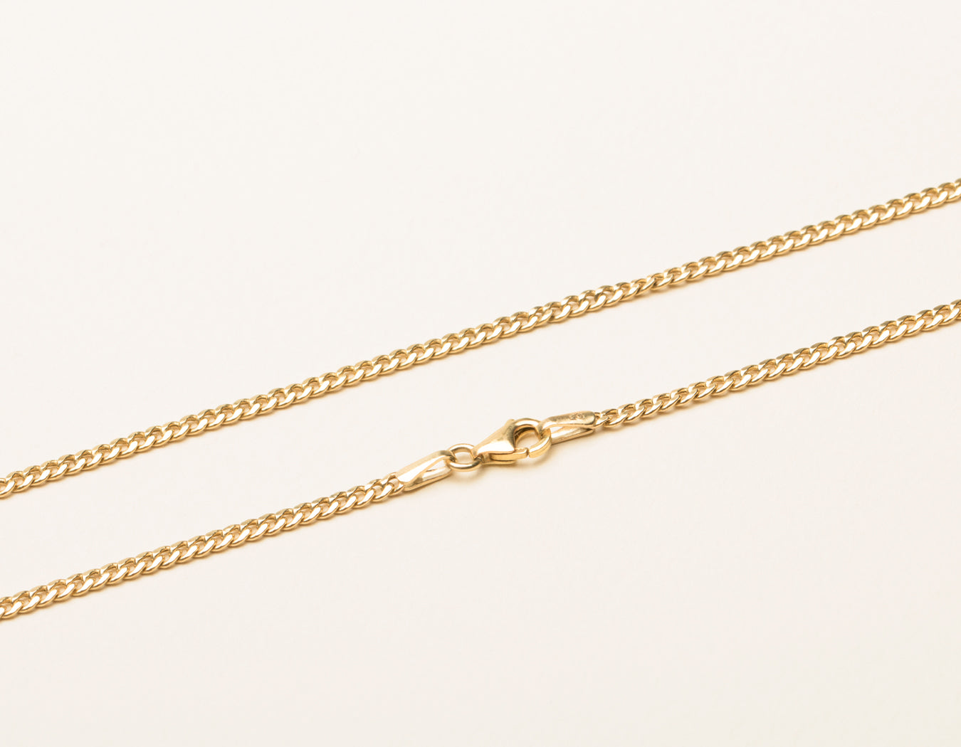 Cuban Link Chain Necklace 14k Yellow Gold Vrai Oro