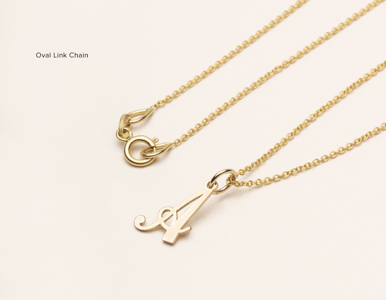 dainty loveletterthumb cable love from necklace handwriting on letter chain