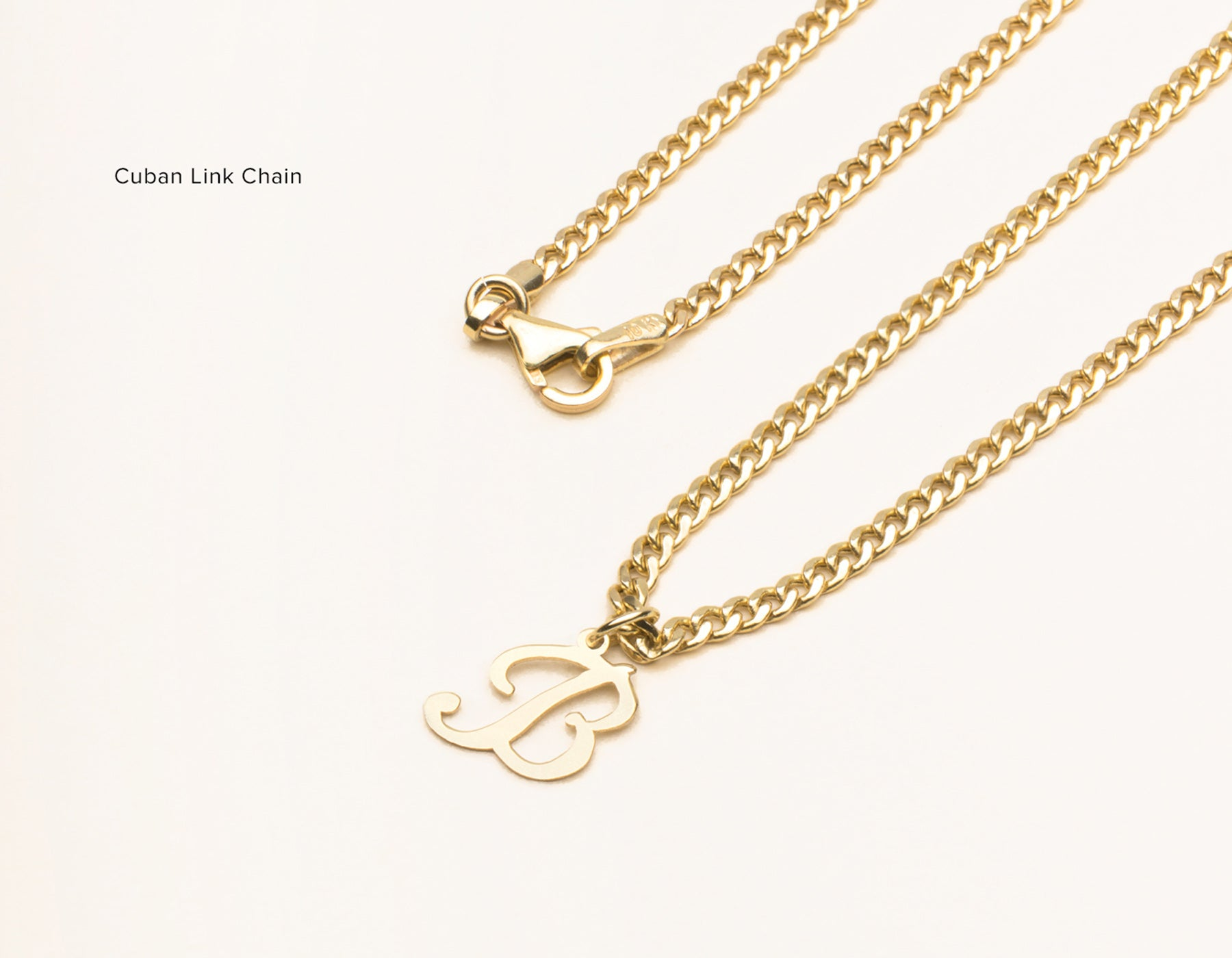 Letter pendant necklace vrai oro letter pendant necklace mozeypictures Image collections
