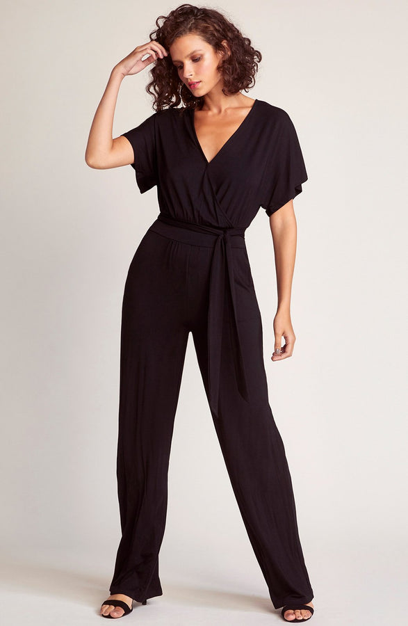 Womens Black Hey Girl Hey Jumpsuit