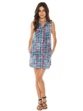 Womens Cloud Bella Dahl Melbourne Plaid Shirt Dress