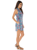 Womens Cloud Bella Dahl Melbourne Plaid Shirt Dress 2