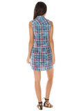 Womens Cloud Bella Dahl Melbourne Plaid Shirt Dress 4