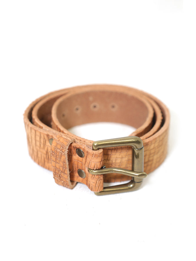 Womens Cognac Brave Leather Ltd. Baxter Leather Belt in Cognac