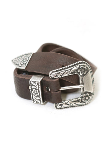 Brave Leather Ltd. Isabeli Leather Belt in Raw Washed Brown - Raw Washed Brown