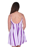 Womens Purple Stripe Bonita Dress 4