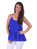 Womens Royal Blue Nicole Top