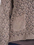 Womens Brown Crew Lurex Blend Sweater 4