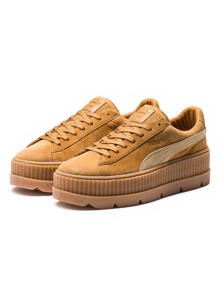 45f762dc8d ... catch FENTY PUMA BY RIHANNA - FENTY PUMA X RIHANNA CLEATED CREEPERS -  GOLDEN BROWN-  100% quality PUMA Women s ...