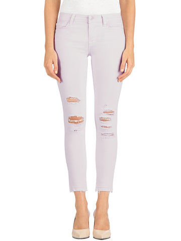 J Brand Low Rise Crop Skinny in Demented Orchid Ice - Demented Orchid Ice