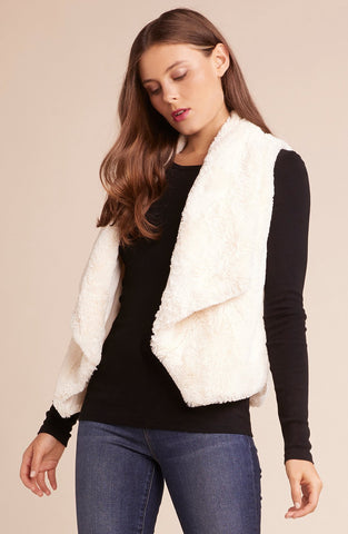 Womens Ivory Big Softt Vest