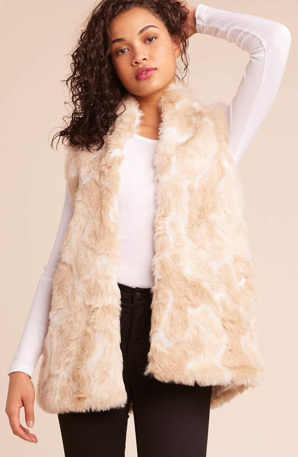 Womens Ivory Fur What