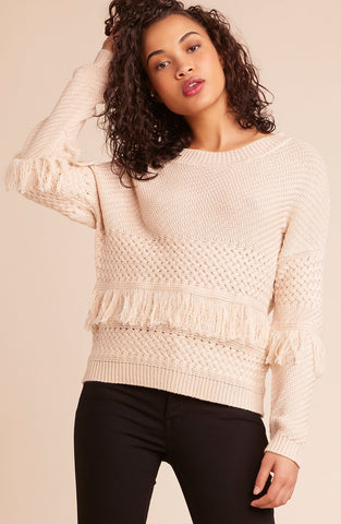 Womens Natural Beige Mix It Up Sweater