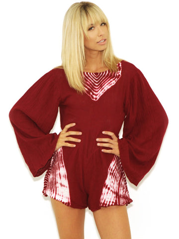 ae242bdcc7 Womens Deep Red White Jen s Pirate Booty Zuni Playsuit in Deep Red White
