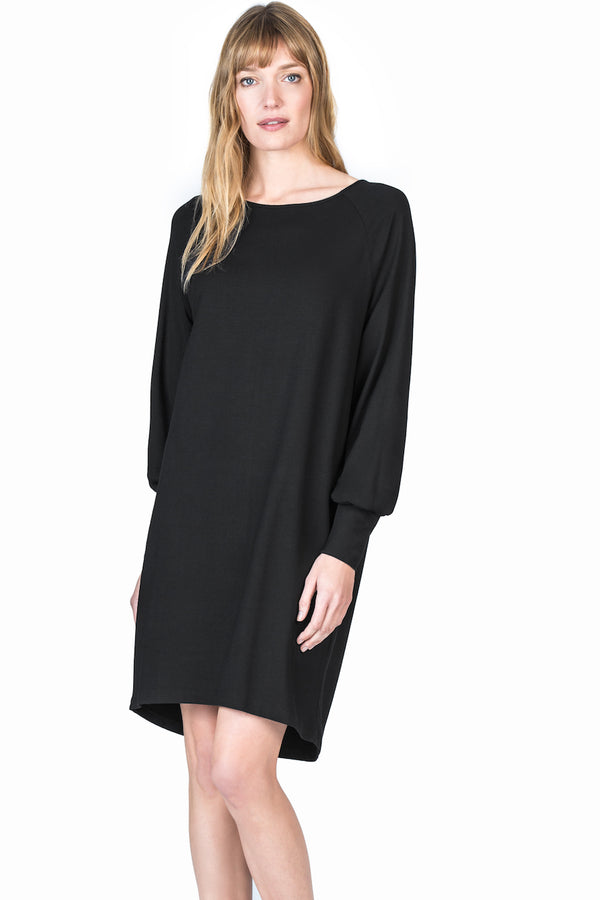 Womens Black Full Sleeve Dress
