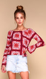 Moroccan Red Tile Blouse 4
