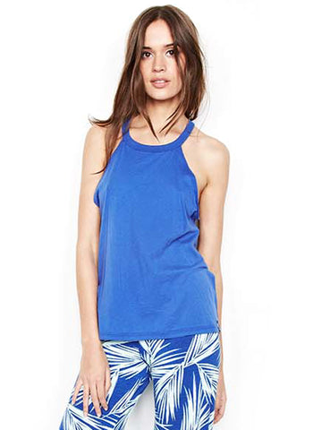 Womens Moonstone Michael Lauren Cactus High Neck Tank in Moonstone