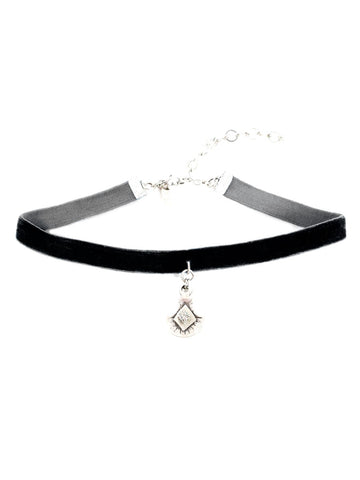 Natalie B. Jewelry La Femme Velvet Choker Necklace in Black