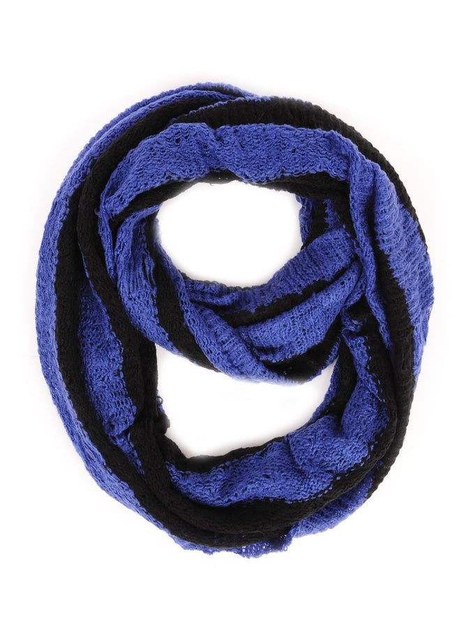 Stripes Infinity Scarf Black/Royal