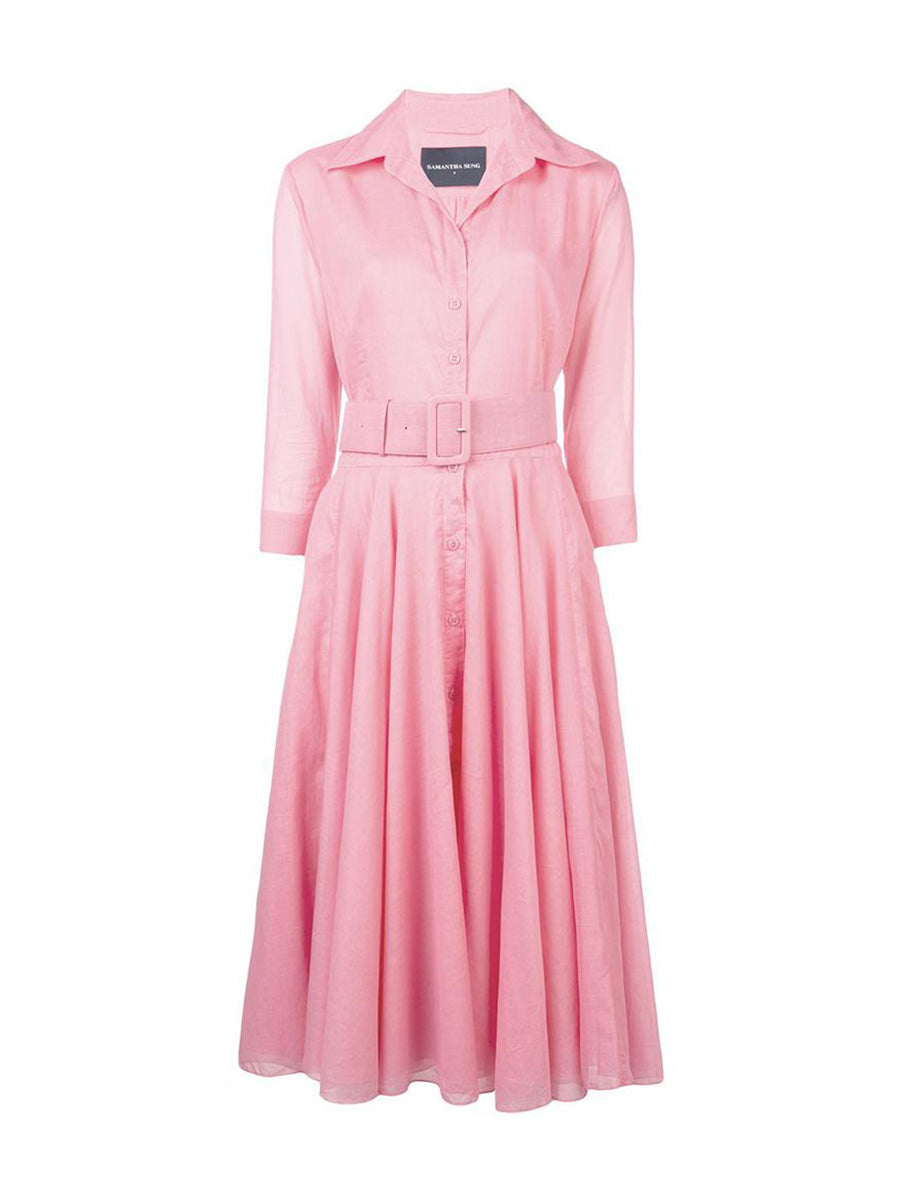 cee45239 Samantha Slung - Aster 3/4 Sleeve Dress - Soft Peach – Boutique to You