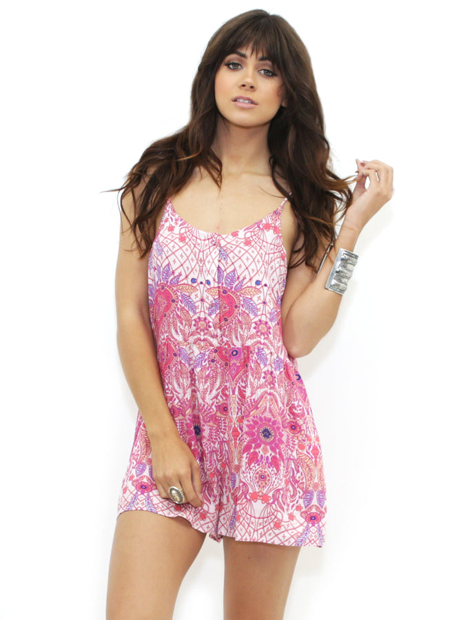 Womens Multi Some Days Lovin Paisley Heat Playsuit in Multi