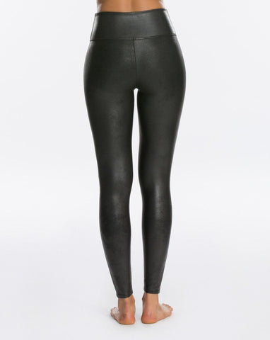 Womens Black Spanx Faux Leather Legging 2 Alternate View