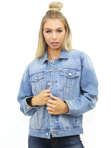 The Laundry Room Queen Stitch Happy Days Denim Jacket in Cape Cod - Cape Cod